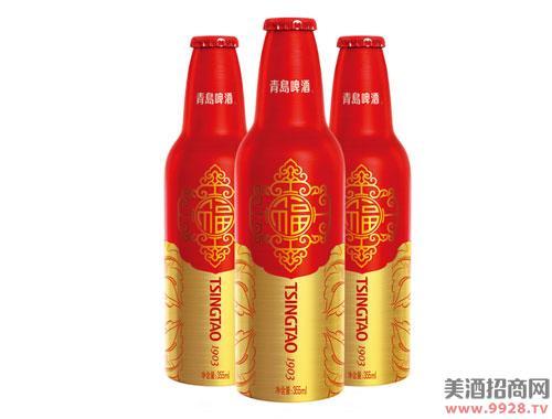 青岛啤酒鸿运当头啤酒355mlx12