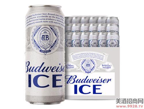 百威啤酒冰啤500mlx18大罐装啤酒