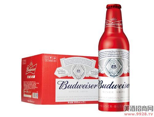 百威啤酒铝瓶装小瓶355mlx24瓶