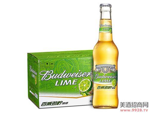 百威啤酒劲柠啤酒小瓶330mlx24瓶
