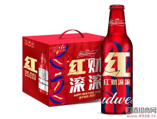 百威啤酒新年限量版红运铝瓶355mlx6瓶