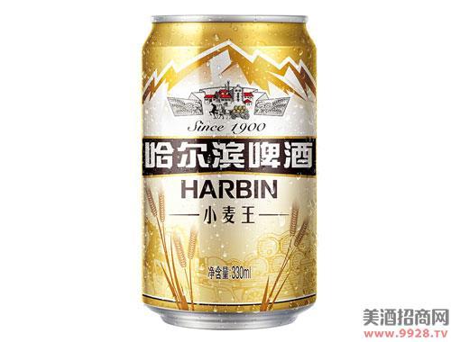 哈尔滨小麦王啤酒330mlx24听