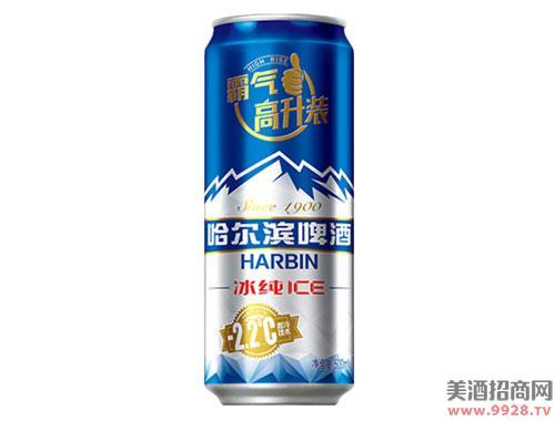 哈尔滨冰纯啤酒500mlx18听