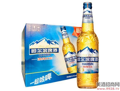 哈尔滨啤酒冰纯600mlx12