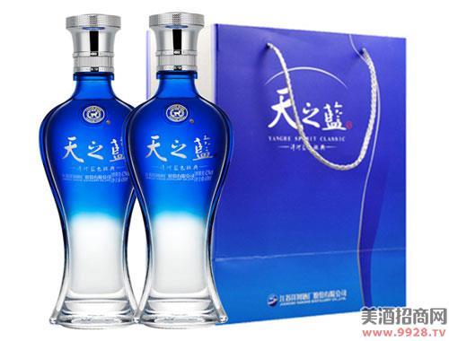 洋河蓝色经典天之蓝42度375mlx2瓶