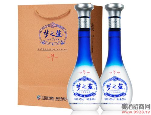 洋河蓝色经典梦之蓝M1 45度500mlx2