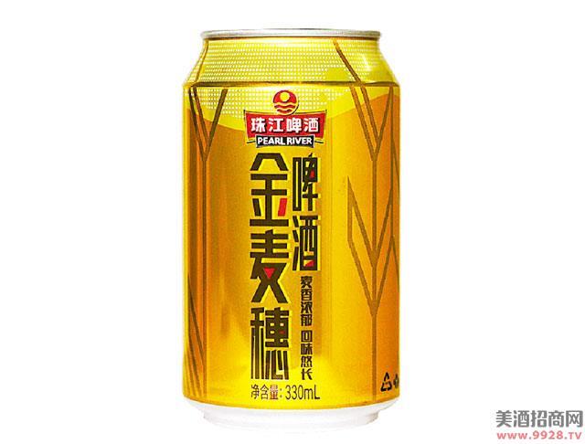 珠江啤酒10度金麦穗330mLx6罐听装