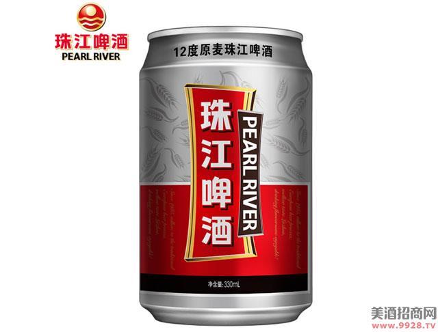 珠江啤酒12度原麦330mlx24罐