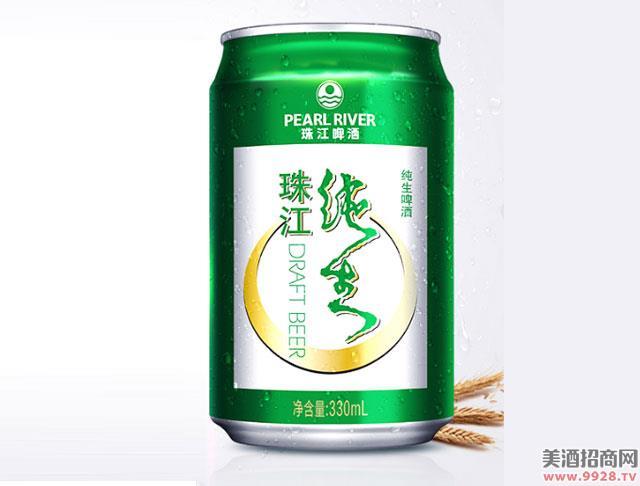 珠江啤酒9度纯生330mLx24罐