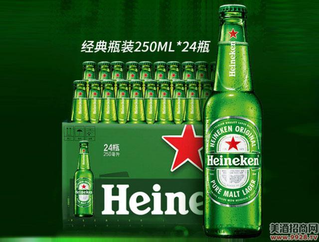喜力啤酒瓶装250mlX24瓶