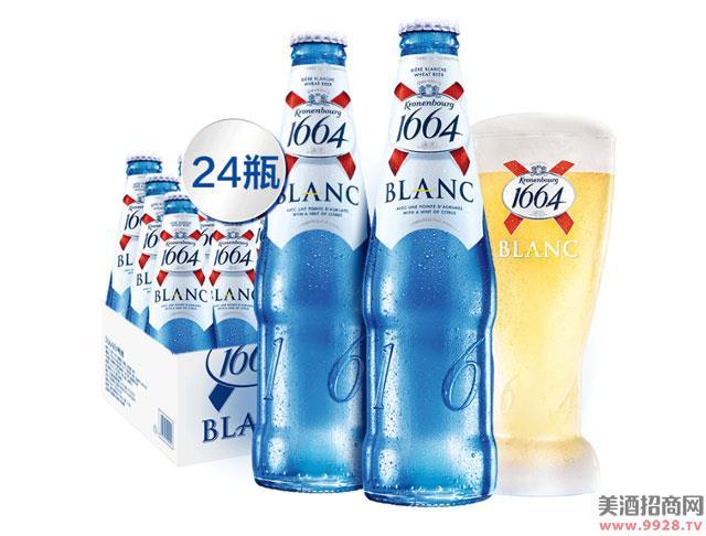 1664白啤酒柑橘果味218mlx24瓶