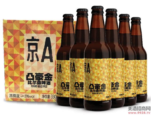京A凸豪金比尔森啤酒330mlx6瓶