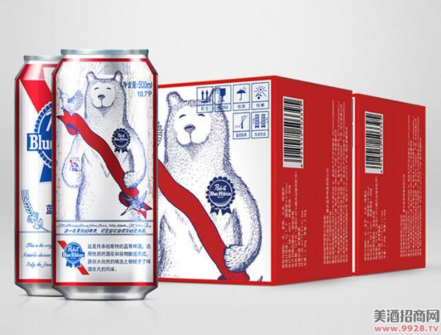 蓝带啤酒艺术罐10.7度500mlx12罐