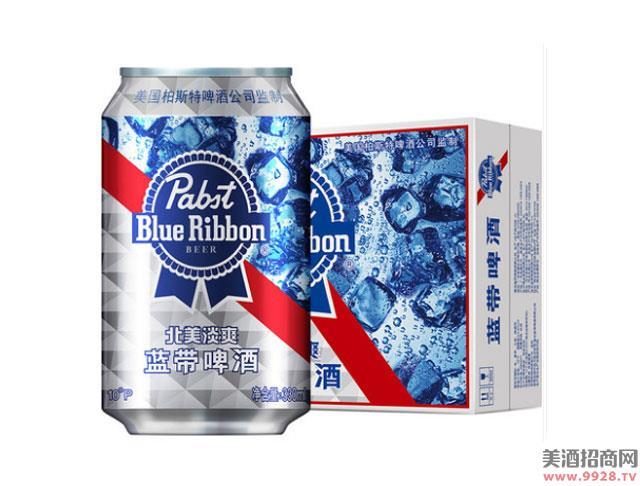 蓝带啤酒北美淡爽330mlx24