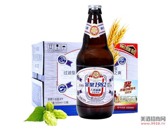 金星啤酒1982大师精酿原浆500mlx12瓶