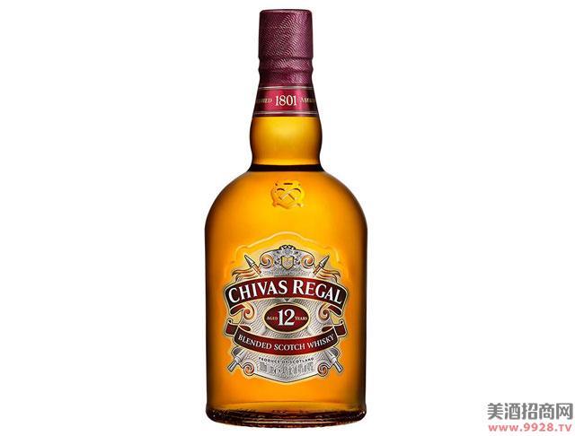 芝华士酒12年苏格兰威士忌1000ml