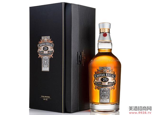 芝华士酒25年苏格兰威士忌700ml
