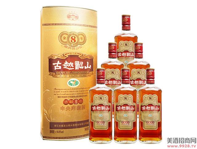 古越龙山绍兴黄酒库藏金八年花雕酒500mlx6