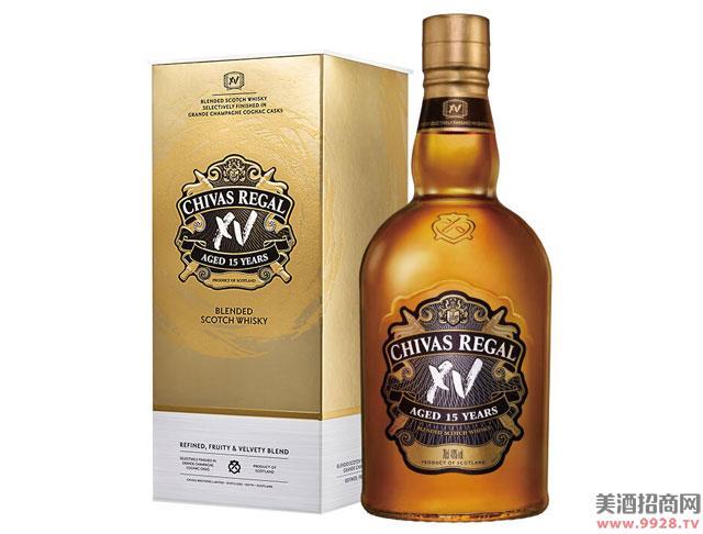 芝华士酒15年XV 苏格兰威士忌透金版700ml
