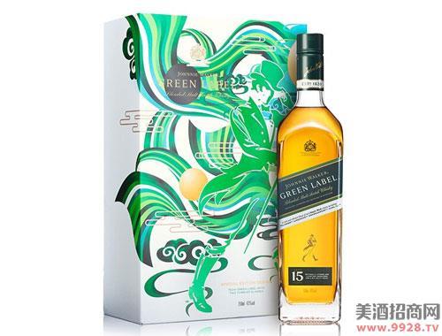 尊尼获加酒绿牌15年苏格兰威士忌750ml