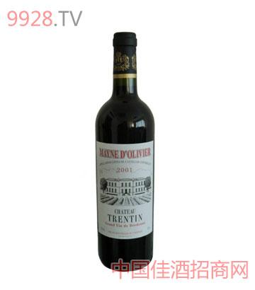 玛尼城堡红葡萄酒2001年