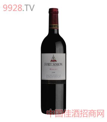西蒙堡梅洛干红葡萄酒