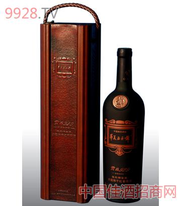 皮盒贡品929赤霞珠干红酒