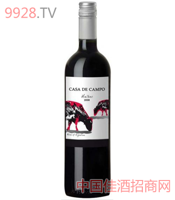 鄉間小屋馬爾貝克紅葡萄酒