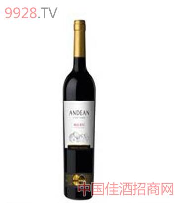安第斯金樽馬爾貝克紅葡萄酒