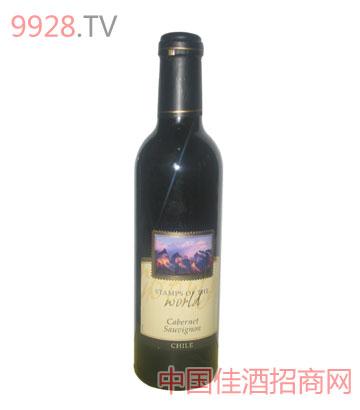 世界印记解百纳红葡萄酒