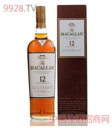 麦卡伦单一麦芽威士忌12年酒