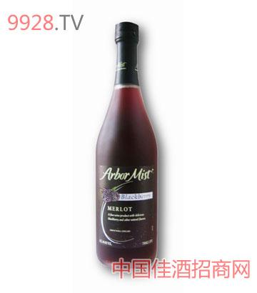 绿雾黑莓梅洛红葡萄酒