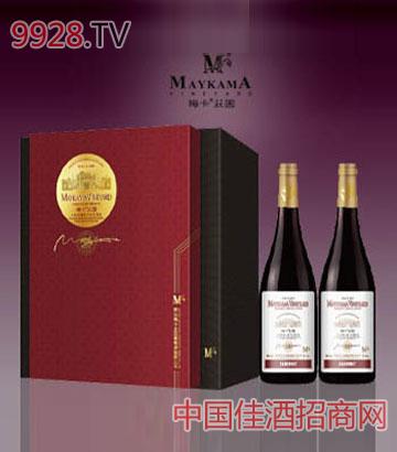 梅卡庄园卡柏尼橡木桶干红葡萄酒(双支礼盒)