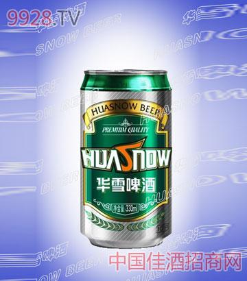 华雪易拉罐啤酒
