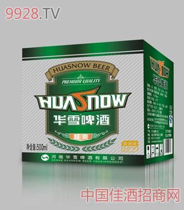 华雪超爽啤酒500ml箱装