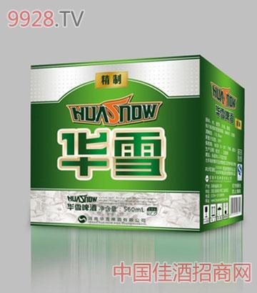 华雪精制啤酒560箱装