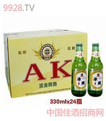 青岛冰爽啤酒