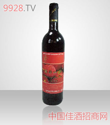 杨梅酒-时尚版光瓶装历居山庄杨梅干红