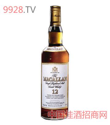 麦高伦12年纯麦威士忌酒