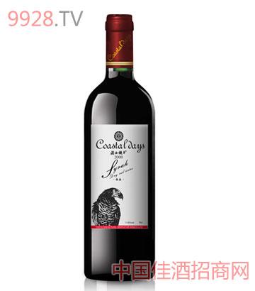 西拉干红2000葡萄酒