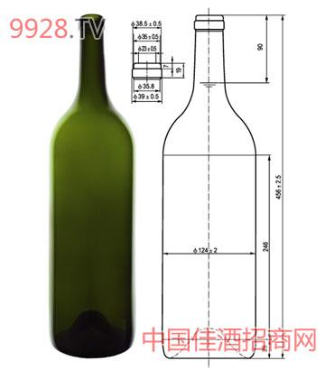 波尔多红酒瓶3_广州明鹰玻璃制品有限公司