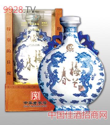 梅蘭春酒扁龍瓶