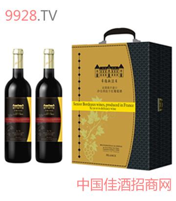 金色庄园橡木桶黑圆桶葡萄酒