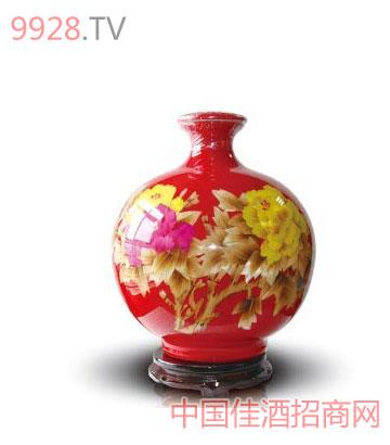 花开富贵酒(麦秆画坛瓶)