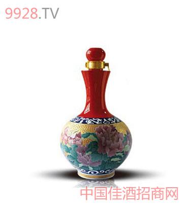 花开富贵酒(描金五彩瓶)