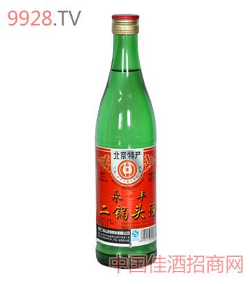 北京二锅头60度500ml绿瓶酒