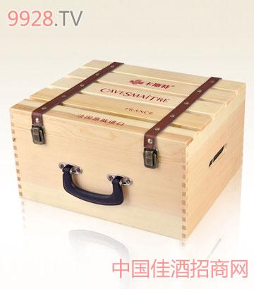 卡斯特六支装木盒葡萄酒