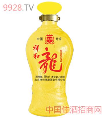 祥和龙黄瓶酒