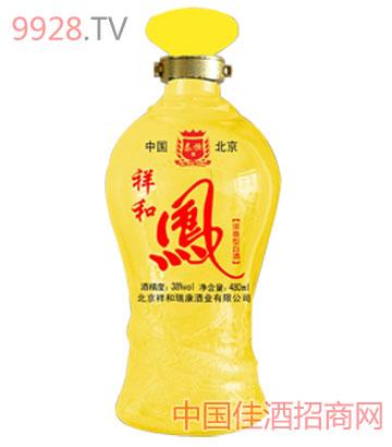 祥和凤黄色光瓶酒