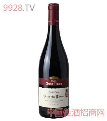 罗纳河谷老藤干红葡萄酒